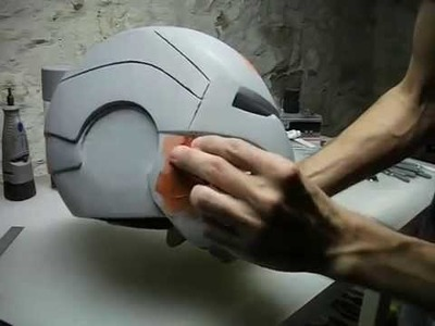 IRON MAN HELMET BUILD PART 11 ~ SPOT PUTTY & FINISHING TECHNIQUES