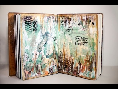Mixed Media - Imagine - Art Journal Page #7