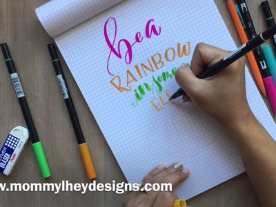 Real Time Hand Lettering Using Tombow Dual Brush Pens