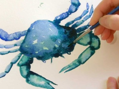 Watercolour Crab Demo for Beginners