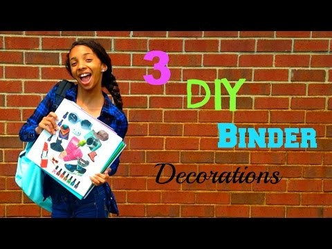 3 DIY Binder Decorations! | Cyndirianne22