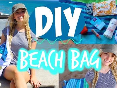 DIY BEACH BAG + WHAT'S IN MY BEACH BAG!