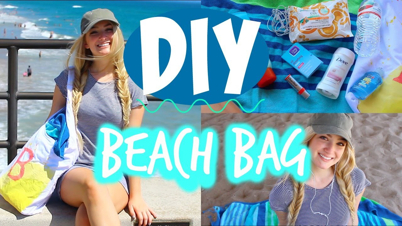 DIY BEACH BAG + WHAT'S IN MY BEACH BAG!