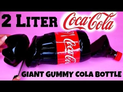 DIY Giant 2 LITER Gummy Cola Bottle - How To Make Giant Gummy Coca-Cola Bottle At Home (Recipe)