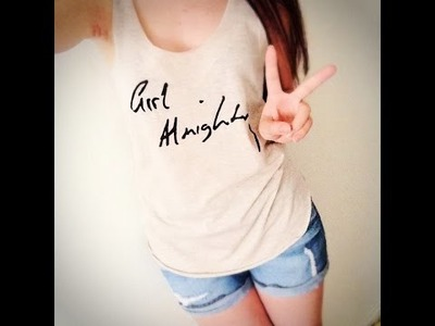 "DIY - One Direction ""Girl Almighty"" T-Shirt"