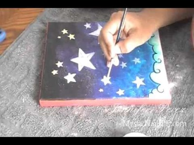 EASY Acrylic Stars Kids Painting Art DIY :::.  Jennifer Perez ☆ Jenz Art Creations