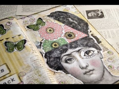 'Back To You' Art Journal Page - Heart Journaling Video #9