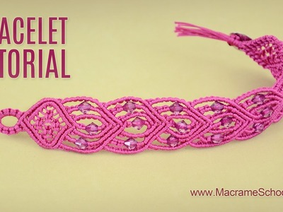 Connected Hearts Bracelet Tutorial by Macrame School