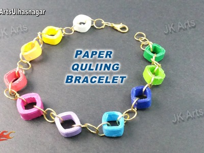 DIY Paper Quilling Bracelet Tutorial | How to make | JK Arts 920