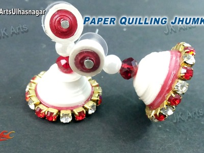 DIY Paper Quilling Jewelry Jhumka |  How to make | JK Arts 918