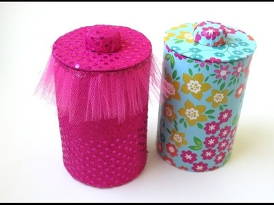 DIY: Storage Jars & Lids - Recycling Cardboard