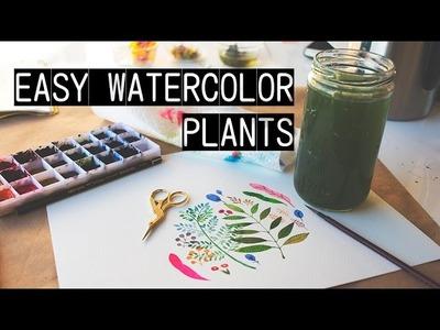 Easy Watercolor Plants (Illustration Speedpaint)