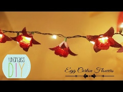 Flores con carton de huevos. flowers lights using Egg cartons