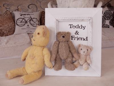 Framing Old Teddy Bears Idea