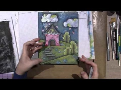 Hand Painted Composition Book Tutorial