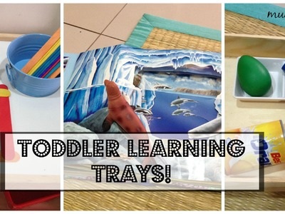 Hands-on learning activities for toddlers & preschoolers! (Montessori-inspired shelf!)