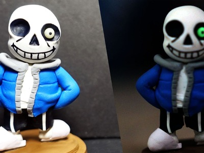 How to Make Sans Undertale Game Figure Polymer Clay Tutorial