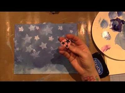 Mixed Media Angel Canvas Board; Part 1