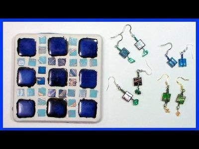Mosaic Tile Coaster and BONUS Tile Earring Tutorial