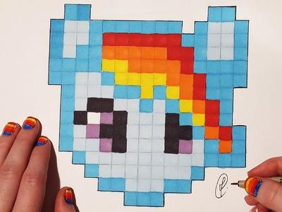 Pixel Art : How to draw My Little Pony (Easy)