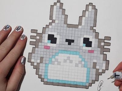 Pixel Art : Kawaii Totoro (Easy)