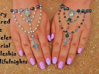 Rosary Inspired Slave Bracelet Tutorial