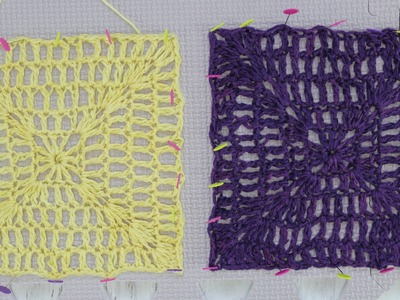 6th Square for Springtime Afghan CAL with Kristin Omdahl