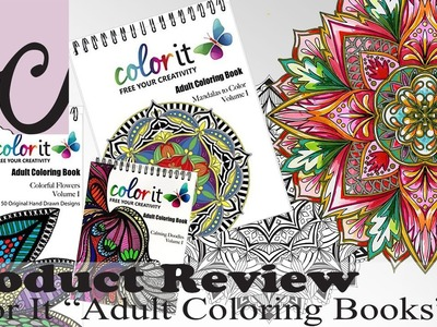 Art Supply.Product Review, Color It Adult Coloring Books (GIVEAWAY! + Speed Paint!)