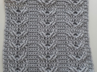 Double Cables Part 1,  rows 1-4