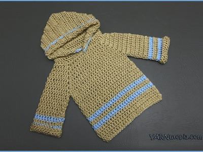How to Crochet an Infant Pullover Hoodie