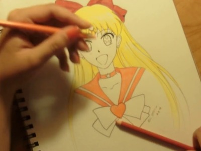 How to draw Sailor Venus (from Pretty Guardian Sailor Moon Crystal)