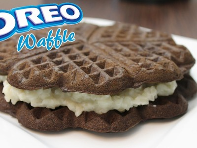How To Make Waffles! Homemade OREO Waffle Recipe