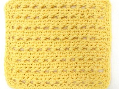 Learn A Stitch Washcloth 6: Piggyback Stitch