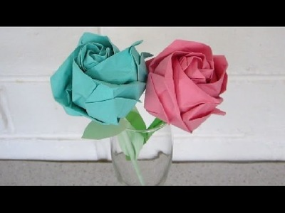 Origami rose instructions - an easy, step by step tutorial - EzyCraft
