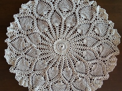 Rounded Pineapples Doily Part 1