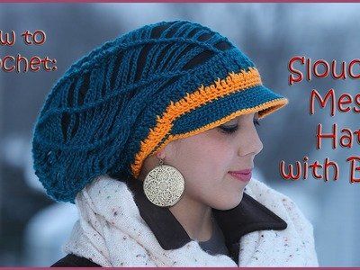 Slouchy Mesh Hat with a Brim