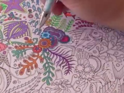 Speed Coloring with Gel Pens : Lost Ocean by Johanna Basford