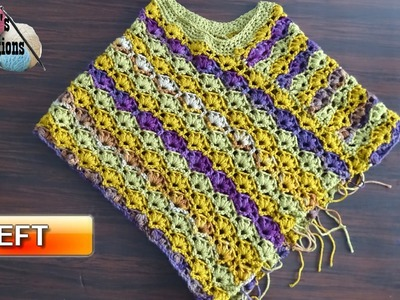 Winsome Crochet Poncho - Left Handed Crochet Tutorial