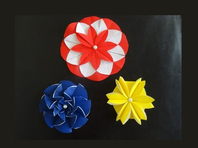 3 paper flower designs you can make with paper circles