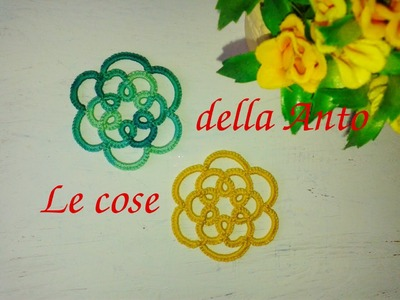 37' TUTORIAL SPLIT CHAIN ORECCHINI FACILE GIOIELLI CHIACCHIERINO AD AGO - NEEDLE TATTING