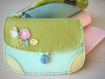 Coin Purse II Die Button Closure Tutorial