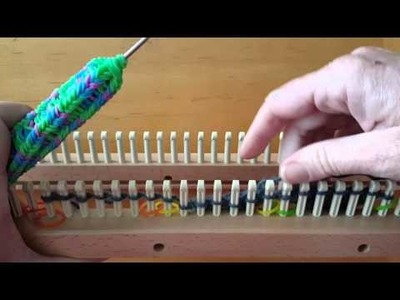 Entrelac on a knitting loom part 1