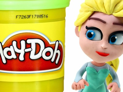 FROZEN Elsa Play doh STOP MOTION videos: Disney Playdough Toy Eggs