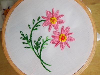 Hand Embroidery: Bullion knot variation