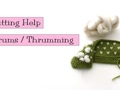 Knitting Help - Thrums. Thrumming