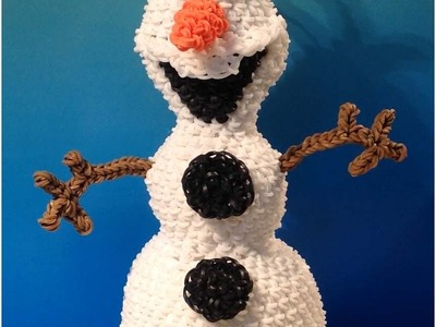 Olaf Loomigurumi Amigurumi Frozen Snowman Part 1 - Rainbow Loom Band Crochet Hook Only Лумигуруми