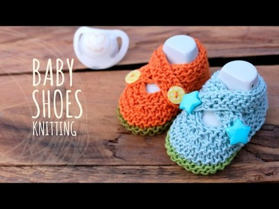 Tutorial Knitting Baby Crossed Shoes