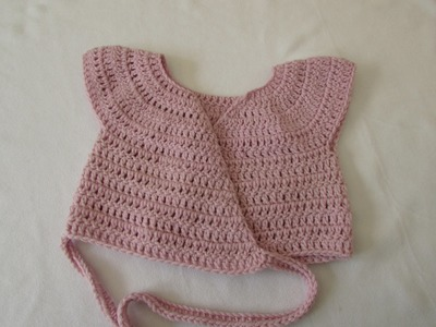 VERY EASY crochet baby. little girl's ballet cardigan tutorial