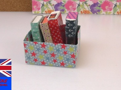 Decorate a Tic Tac box for storage Tutorial: Decorating Tic Tac storage with washi tape!