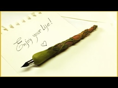 Dip pen- Polymer clay tutorial